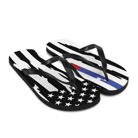 Fallen COOP Distressed Flag Flip-Flops