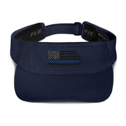 Image of Fallen Hero Police Thin Blue Line Flag - Visor