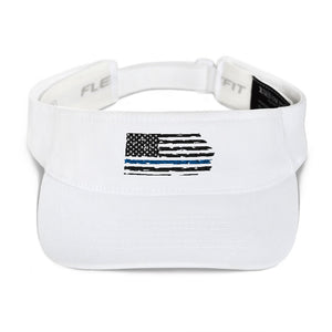Fallen Hero Police Thin Blue Line Flag - Visor