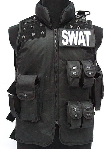 Image of Man's Airsoft Gear Hunting Vest Police Airsoft Vest Model Molle Tactical Black Military CS Vest SWAT Protective Equipment