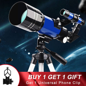 Professional Large Aperture Ultra HD Astronomical Telescope With Tripod 70mm Refractor Night Vision Moon Watching for Adults
