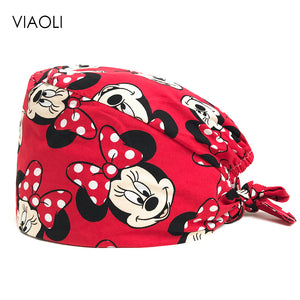 viaoli new Wholesale nurse hat beauty salon Pet hospital surgical cap doctor dentist pharmacy lab scrub hat clinic clinical hats