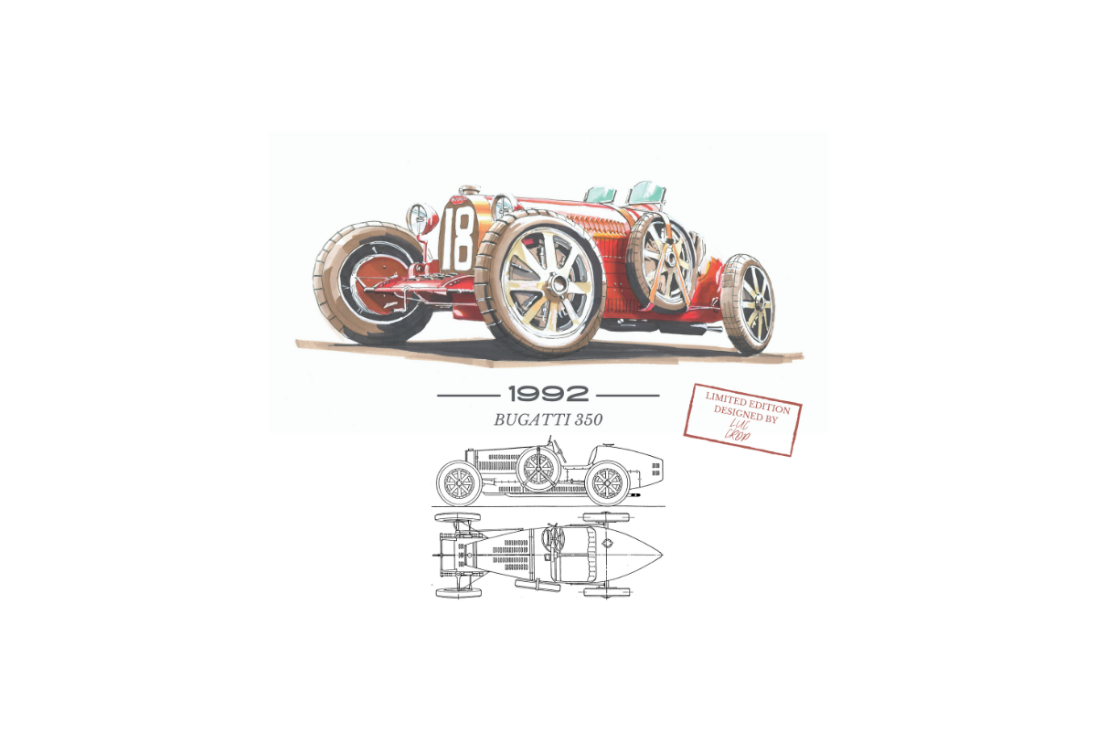 Limited Edition by Luc Crop: Bugatti 18