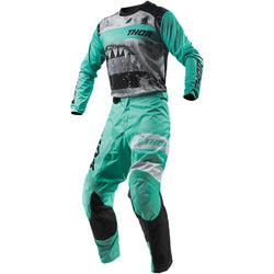 THOR - PULSE SAVAGE JAWS MINT/BLACK JERSEY, PANTS COMBO