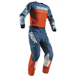 THOR - PULSE AIR ACID RED ORANGE/SLATE JERSEY, PANTS COMBO