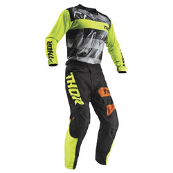 THOR - PULSE SAVAGE BIG CAT BLACK/LIME JERSEY, PANTS COMBO