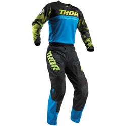 THOR - PULSE AIR ACID ELECTRIC BLUE/BLACK JERSEY, PANTS COMBO