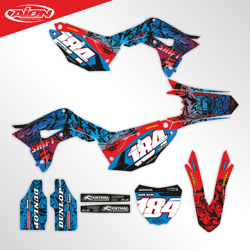 Honda CRF 250 2018 / CRF 450 2017-2018 Full Graphic Kit