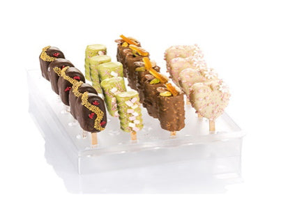 Espogel UP Mini Ice-Cream-Pop Display Holder, Frosted Clear