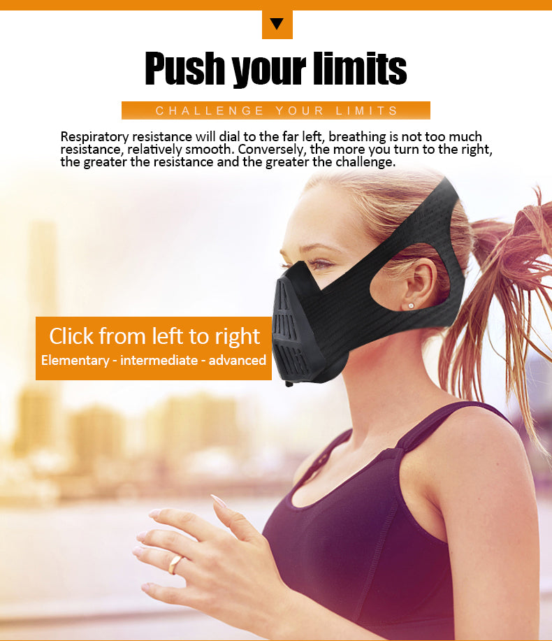 Oxygen barrier mask sports self-abuse anaerobic mask running fitness simulation plateau physical training lung vitality mask