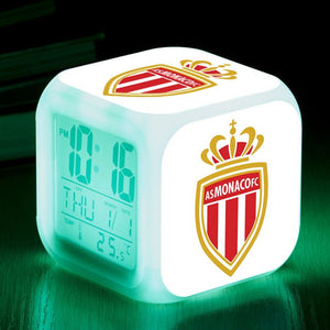 réveil alarme led football cadeau enfant homme fan AS MONACO FC