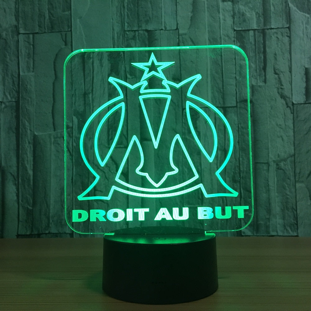 veilleuse lampe led tactile football Marseille OM