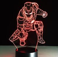 Veilleuse Lampe LED Tactile cadeau fan Avengers ironman