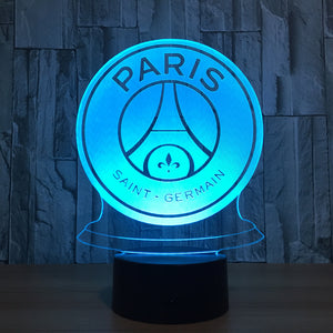 veilleuse lampe LED football PSG PARIS