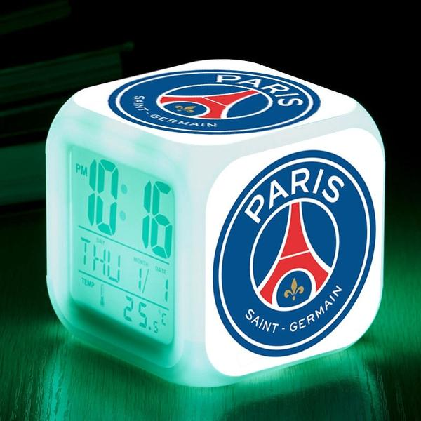 réveil alarme led football psg club paris saint germain cadeau enfant homme fan CLUB