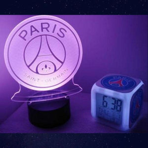 idee cadeau fan de football psg club paris saint germain veilleuse reveil tactile