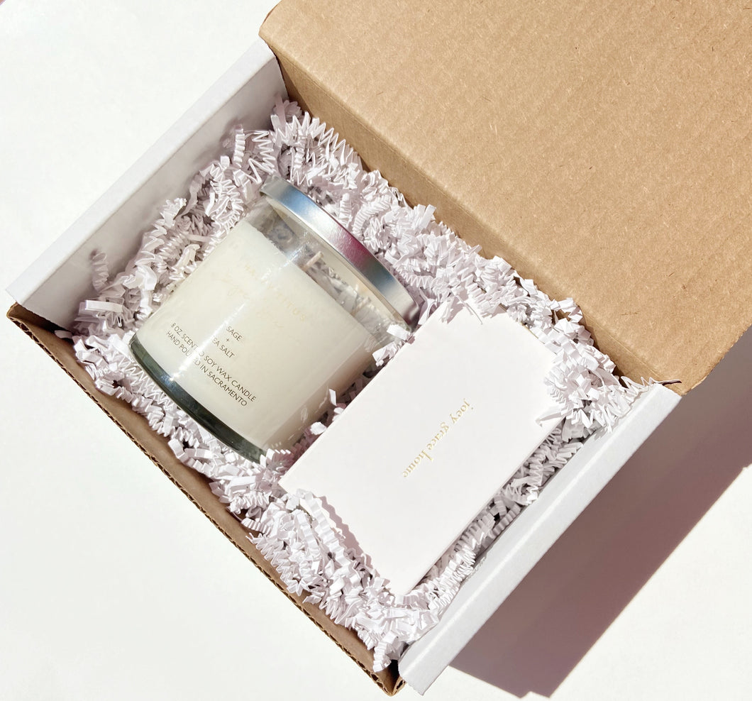 Essentials Candle + Matchbox Gift Set