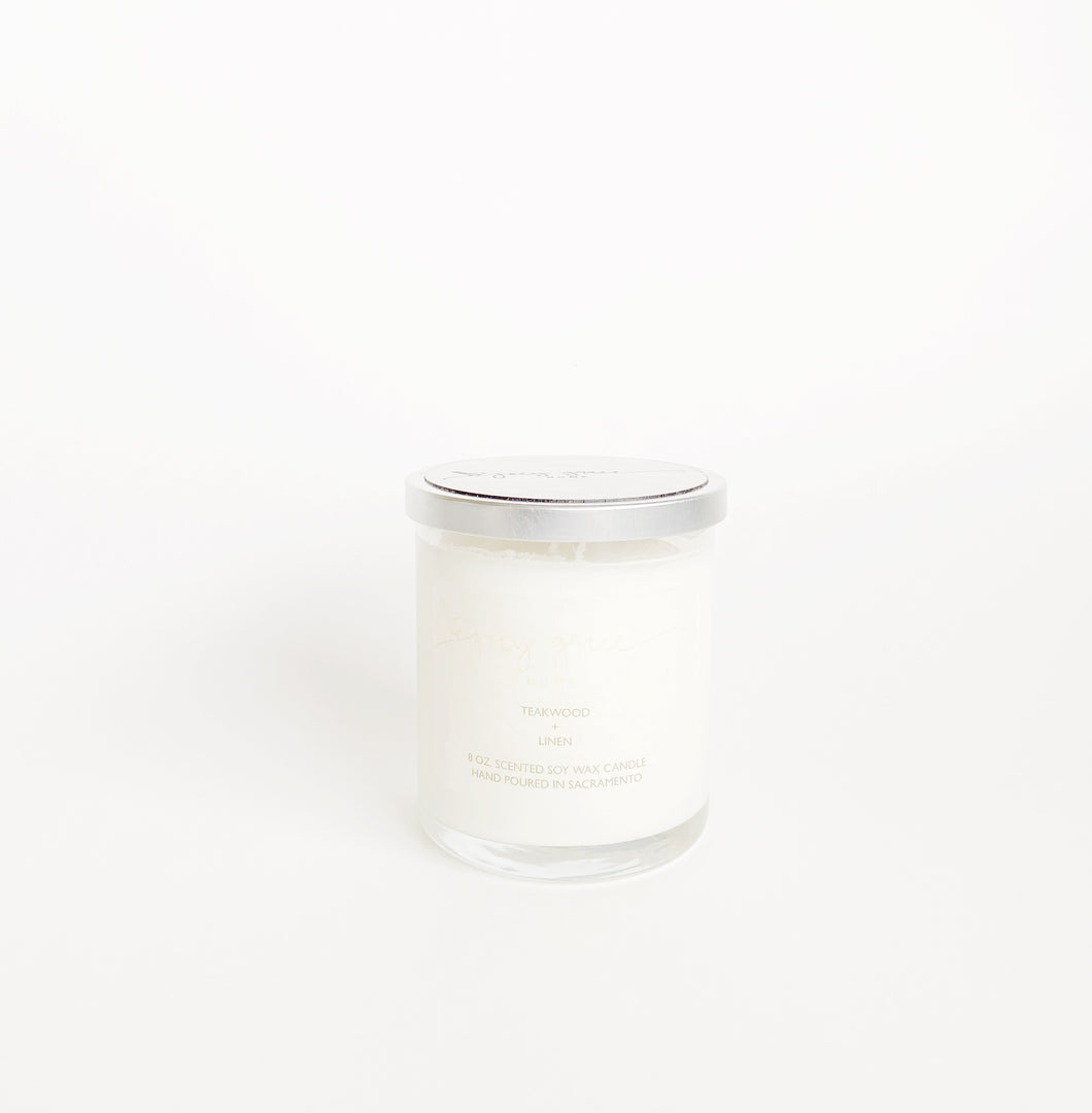 Teakwood + Linen Equinox Candle