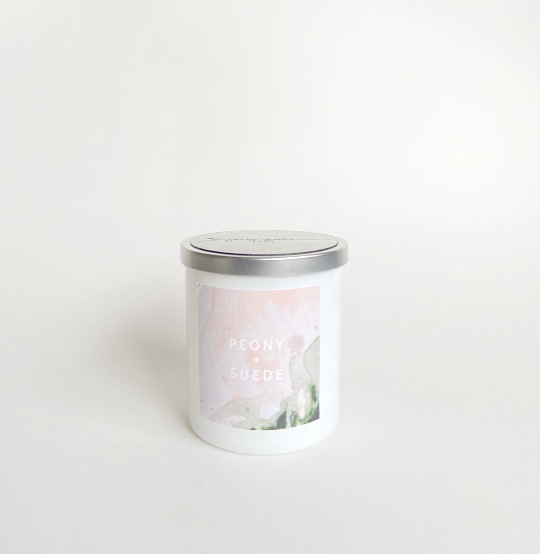 Haley Titus Stay Home Candle: Peony + Suede *Limited Edition
