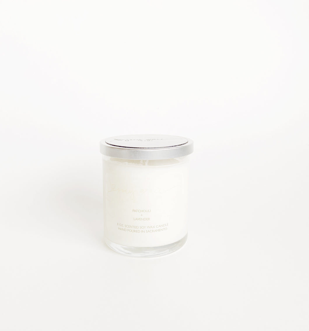 Patchouli + Lavender Essentials Candle