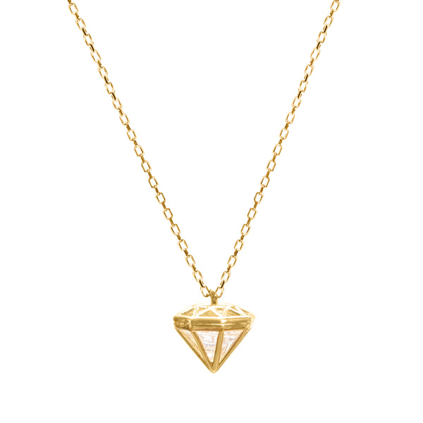Diamond gold necklace