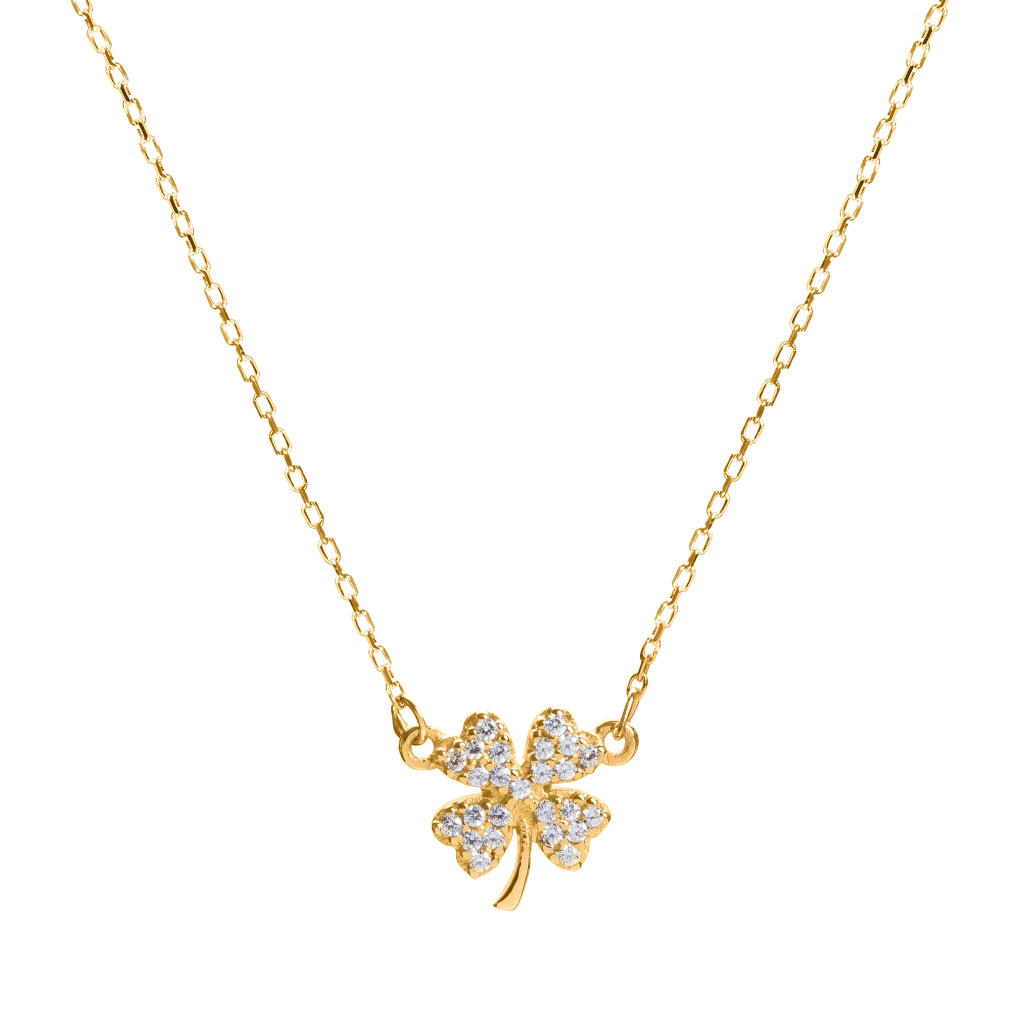 Luck gold necklace
