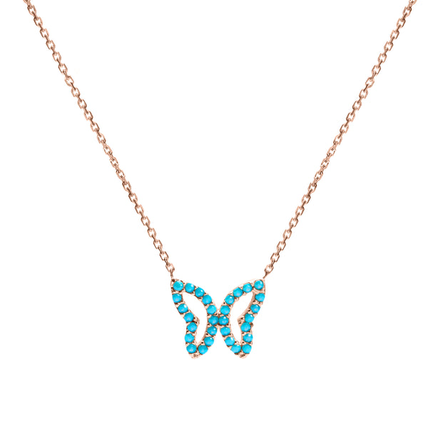 Magic Butterfly gold necklace