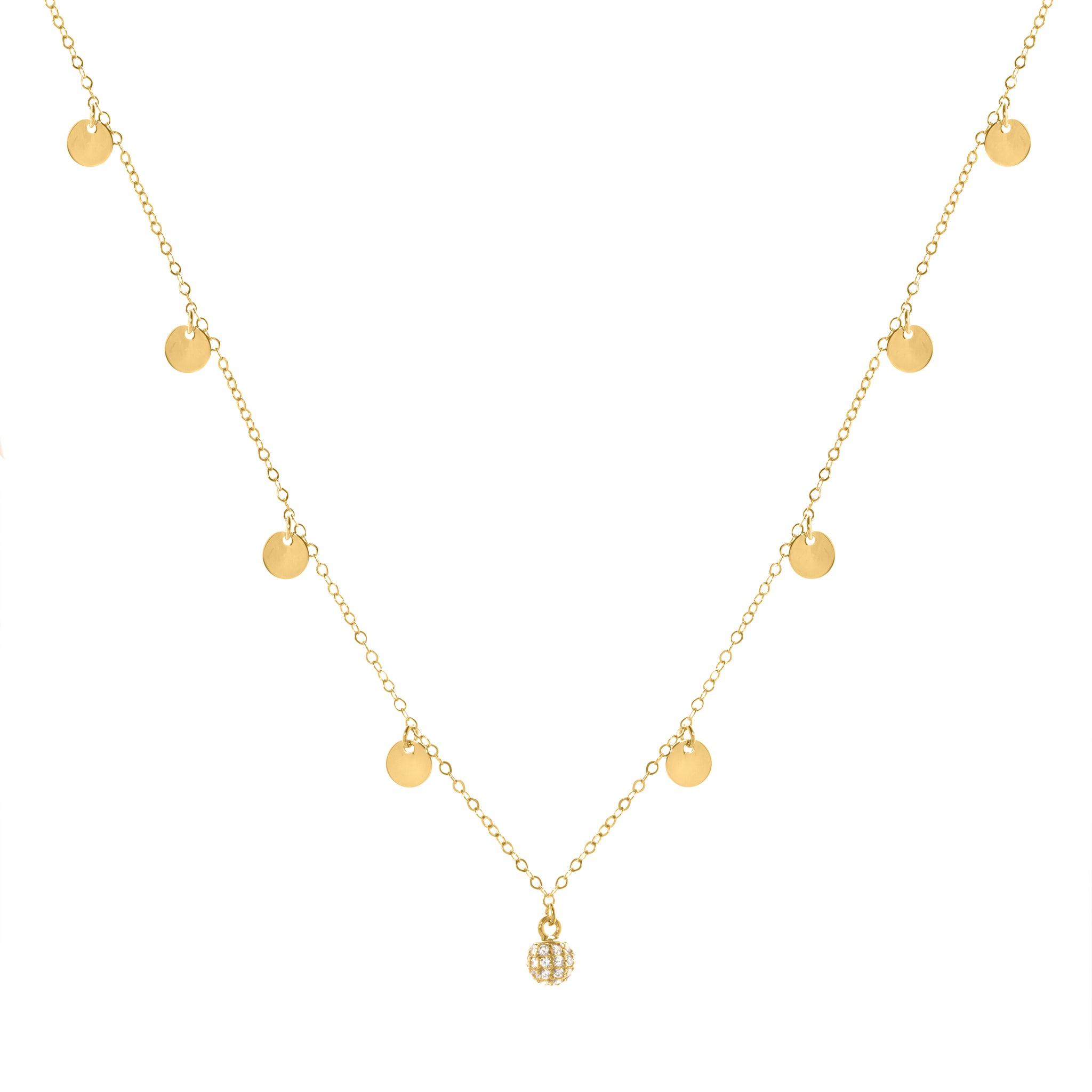 Barbara gold necklace
