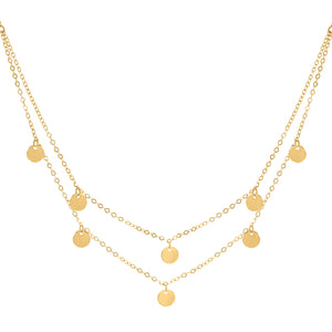 Blanche gold necklace