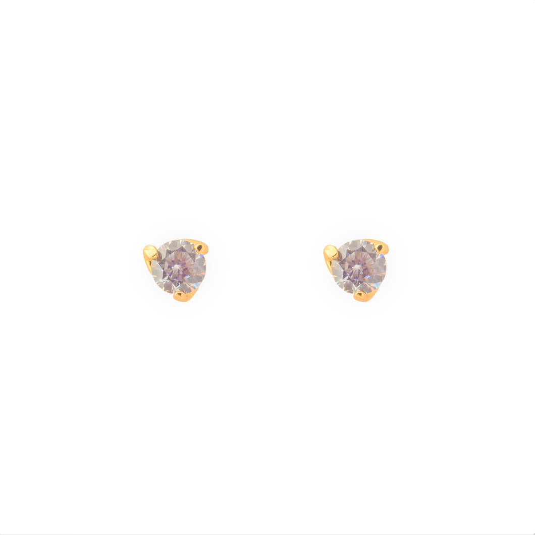 Crystal gold earrings