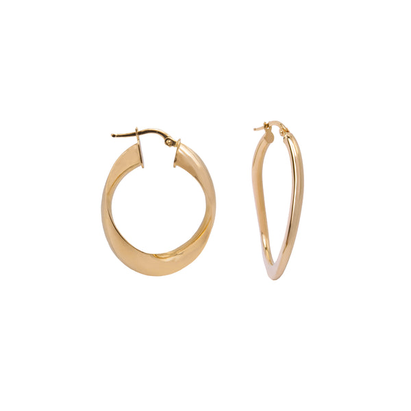 Tyra gold earrings