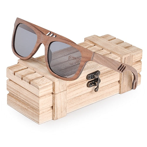 Lady's Wooden Sunglasses - Natural