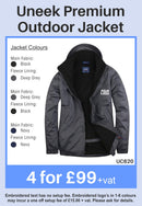 4 Uneek Premium Outdoor Jackets for Only £99 + vat
