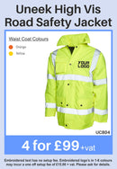 4 Uneek Road Safety Jackets for Only £99 + vat