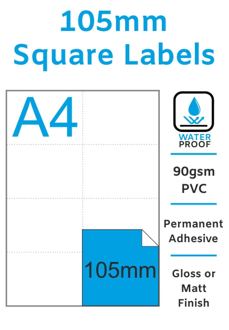 105mm Square Stickers