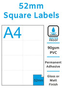 52mm Square Stickers