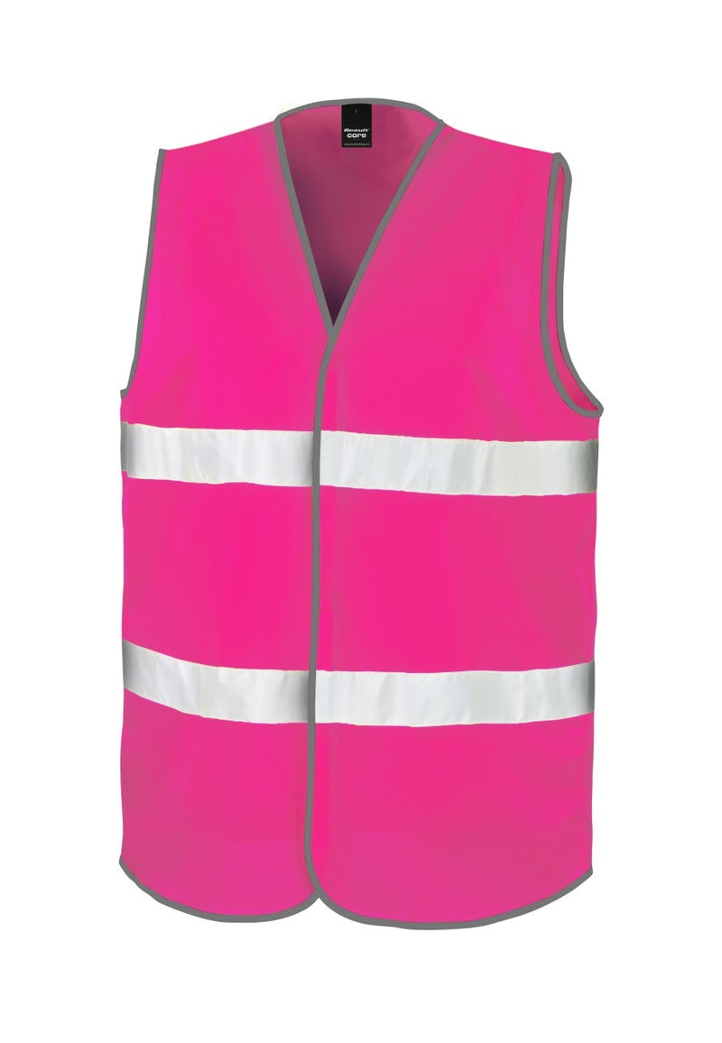 Fluorescent Pink Enhanced Visibility Vest