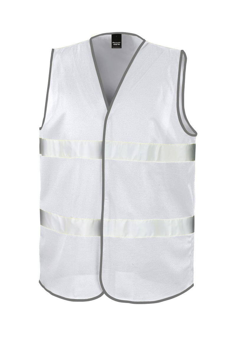 White Enhanced Visibility Vest