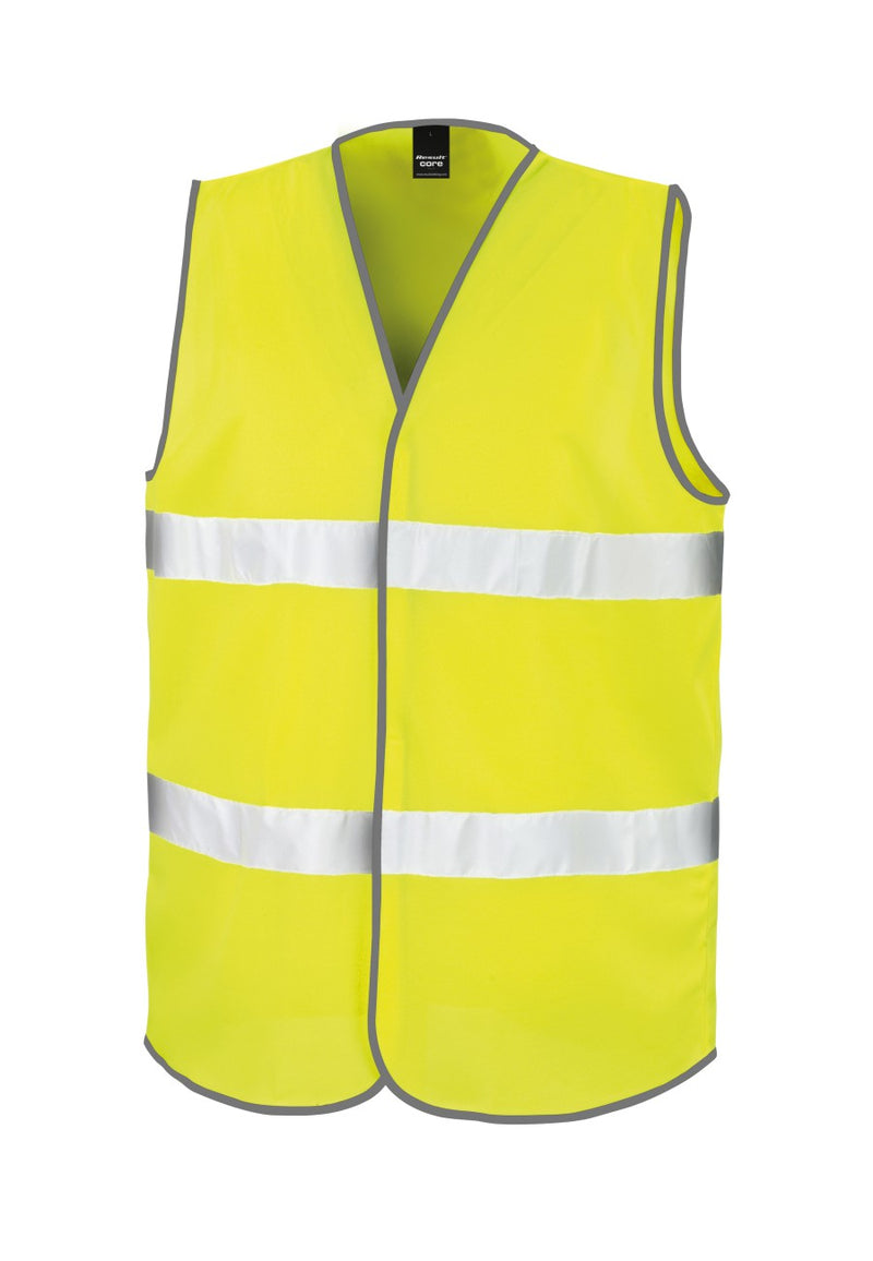 Fluorescent Yellow Enhanced Visibility Vest