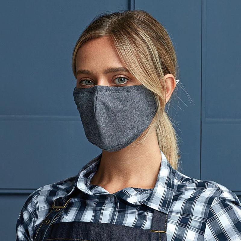 Protective 3-Layer Fabric Mask - Navy
