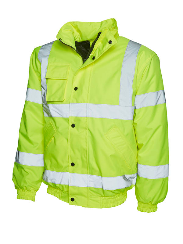 Uneek UC804 - High Visibility Bomber Jacket
