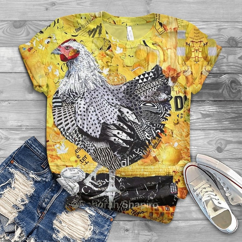 Chicken Fabulous Unique Design Art T-Shirt 3