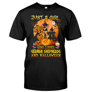 Just A Girl Loves German Shepherds And Halloween