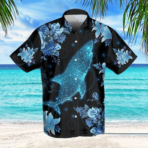 BLUE SHARK HAWAIIAN SHIRT