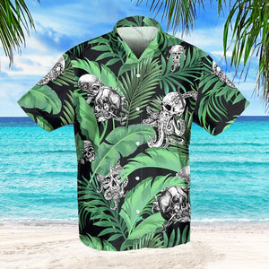SKULL OCTOPUS TROPICAL HAWAIIAN SHIRT