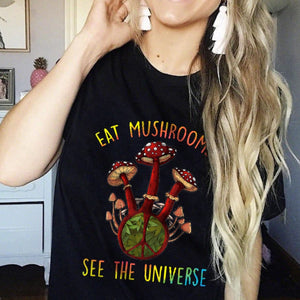 Eat Mushrooms See The Universe Classic T-Shirt 2