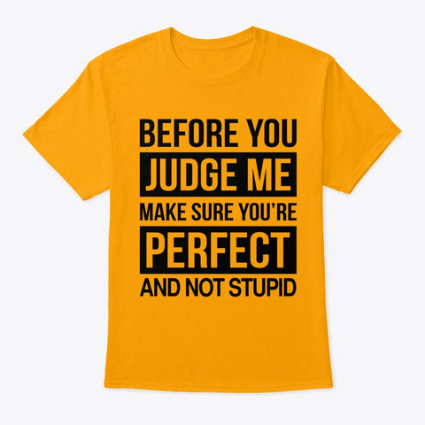 Make Sure You're Perfect and Not Stupid T-Shirt