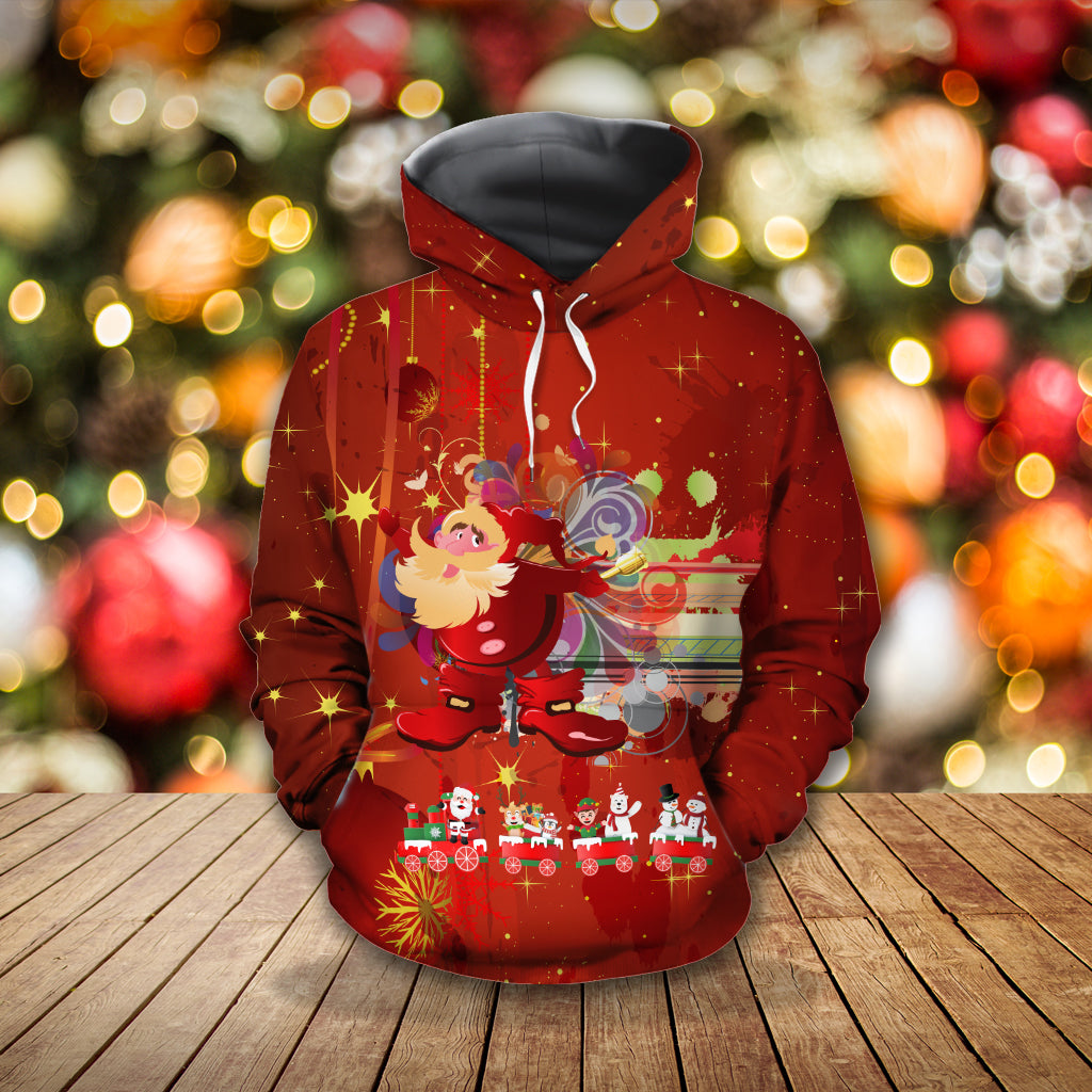 Santa Claus and Friends Hoodie 3D