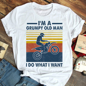 Grumpy Old Man Motor Cross T-shirt
