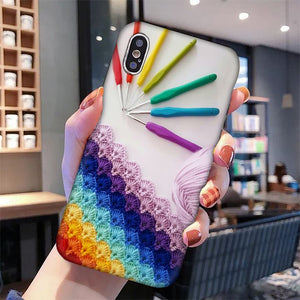 Colorful Crochet And Knitting Phone Case